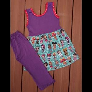 Purple LOL Dolls Capri Set