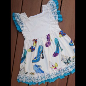 White & Blue Princess Shoe Dress