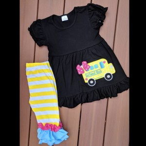 Black Bus Capri Set