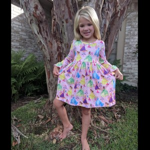 Pink Long Sleeve Princess Dress - Twirl Dress