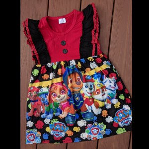 Red & Black Paw Patrol Dress