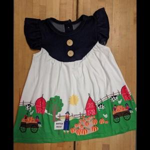Denim Pumpkin Patch Dress