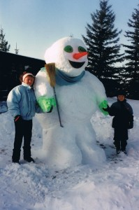 The finished snow man