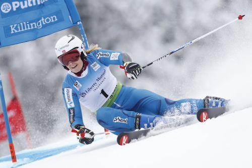 Nina Løseth comanda la prima manche del gigante di Killington, terza Federica Brignone