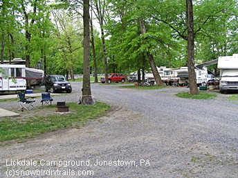 Our stopover at Lickdale Campground 11 Lickdale Road, Jonestown, PA