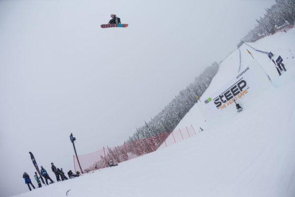 Mark McMorris snowboarding at Breckenridge