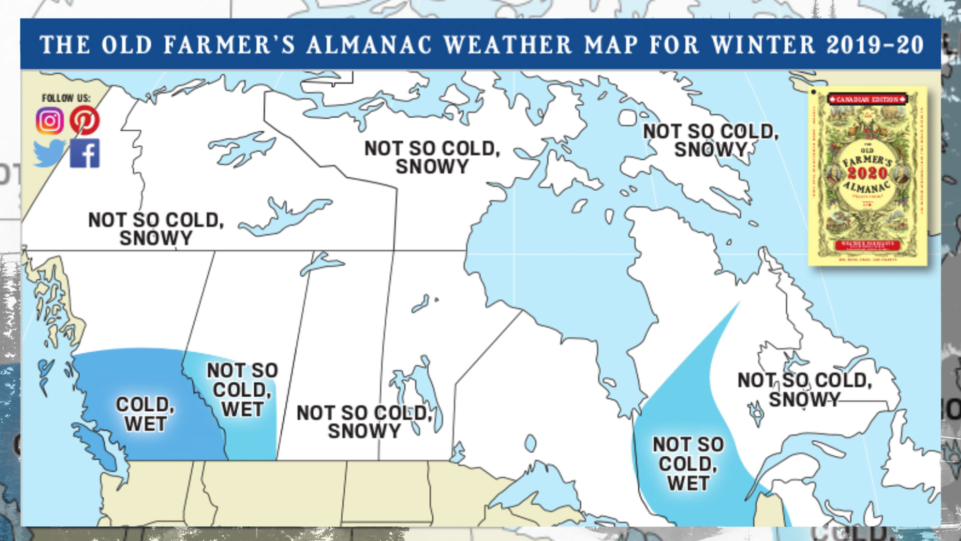 Old Farmer's Almanac Winter Weather Forecast 2020: Canada