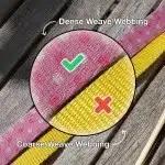 Coarse webbing vs Dense webbing collar