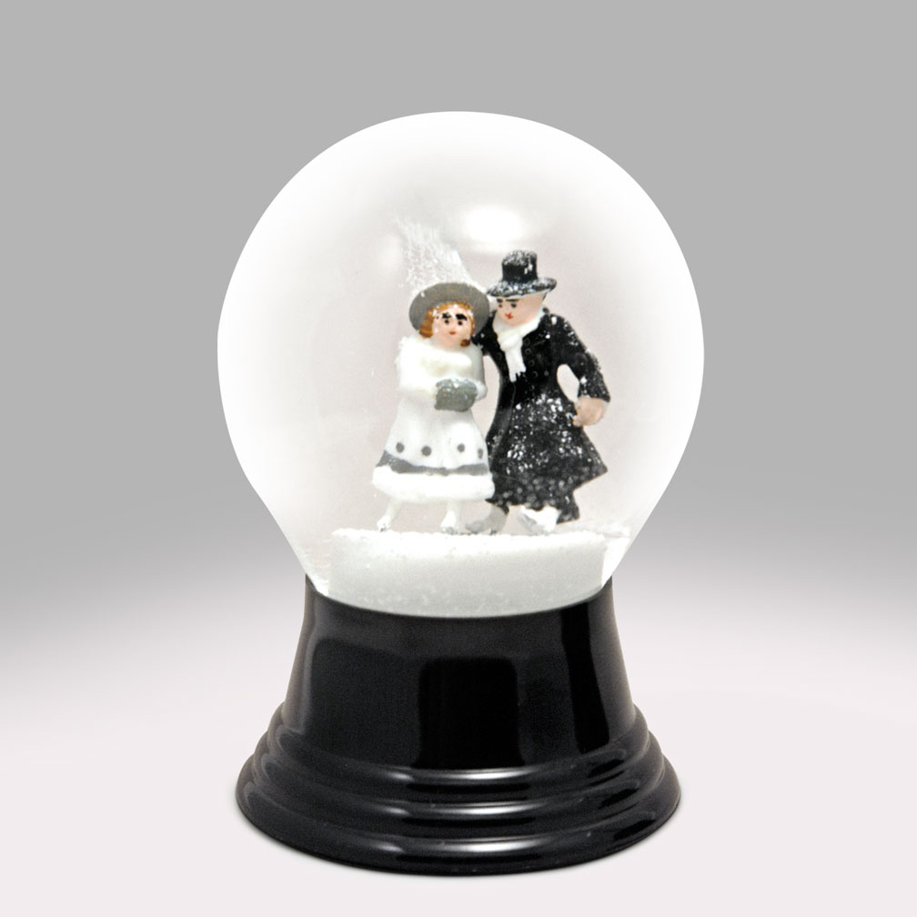 Bride And Groom Skating Snow Globe Global Shakeup