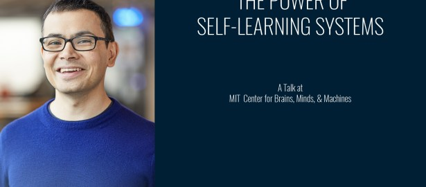 The Power Of Self-Learning Systems | A Talk By Demis Hassabis