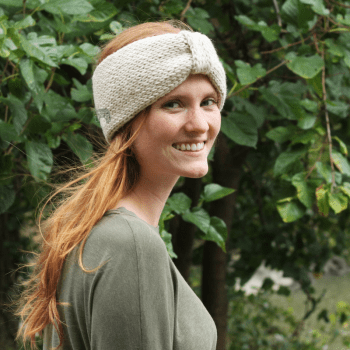 Knit Bow Earwarmer