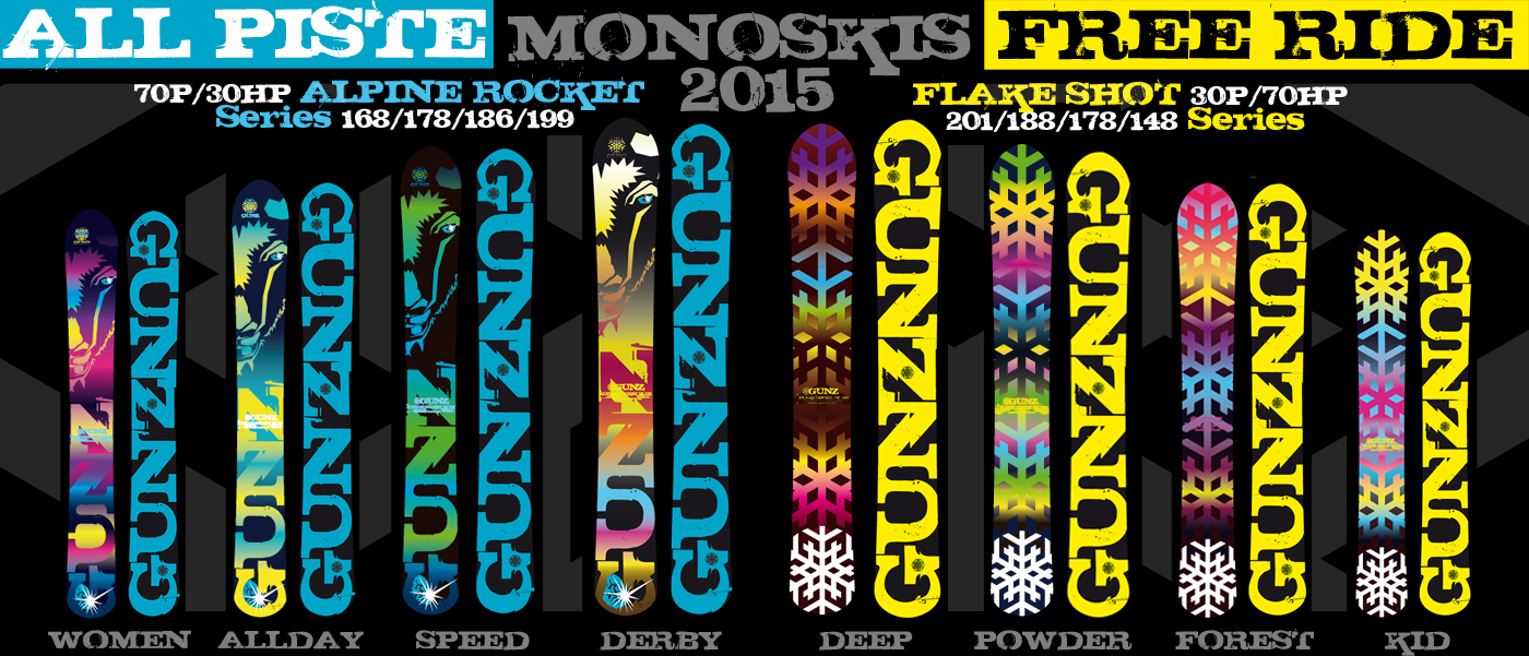 Monoski for ever avec la nouvelle collection 2014 des monoskis Snowgunz