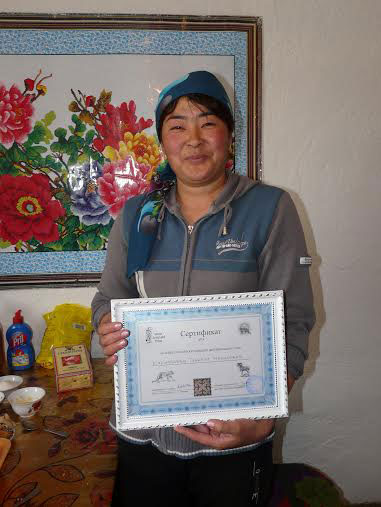 a proud recipient of a conservation certificate