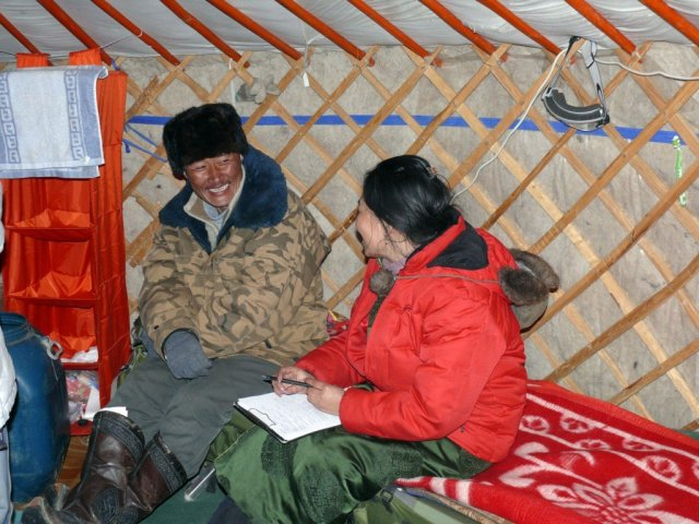 Hailing from a village in the South Gobi, Nadia understands the concerns of local herding communities very well.