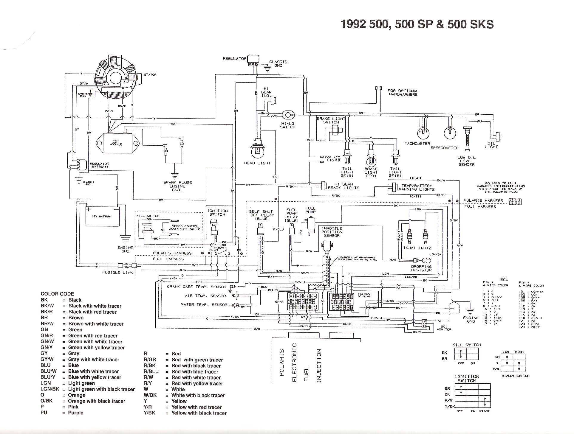 Polaris Ranger 500 Electrical Diagram