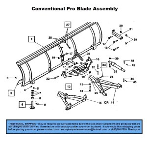 Pro Plow  Conventional  Part Diagrams  Western  Blade
