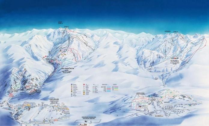 Het skigebied: Palandöken