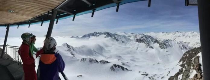 Uitzicht vanaf Top Mountain Star op de Dolomieten