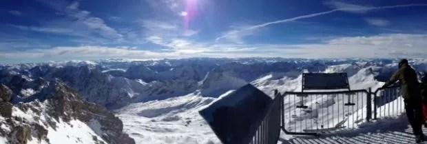 Zugspitze uitzicht