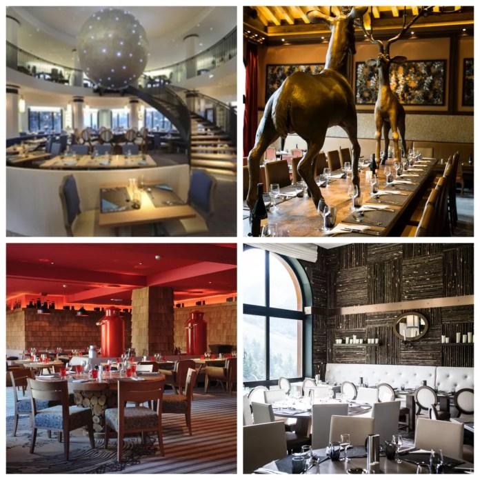 Vier restaurants bij Club Med Valmorel