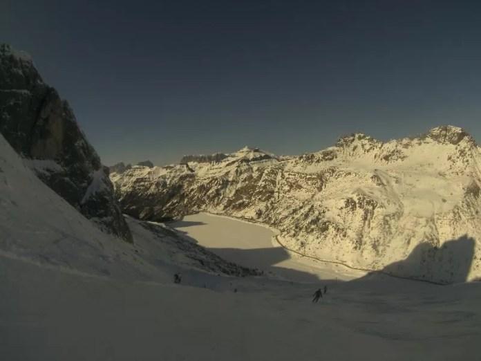 Skiën vanaf de Marmolada