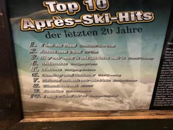 Apres-ski hits Saalbach Hinterglemm