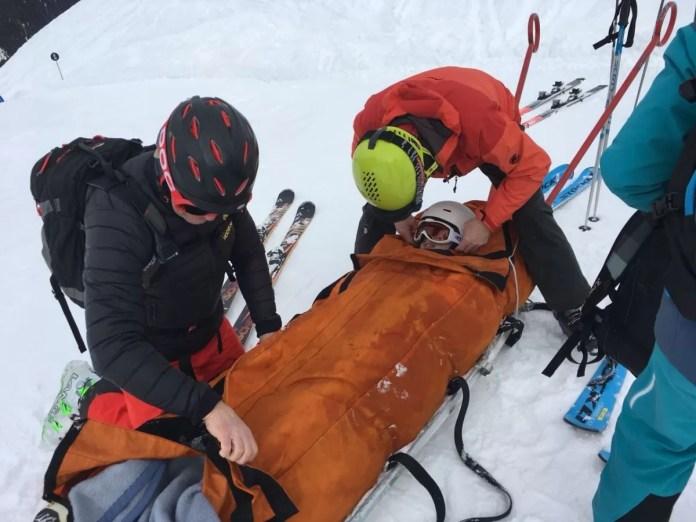 Banaan Wintersport Ongeluk