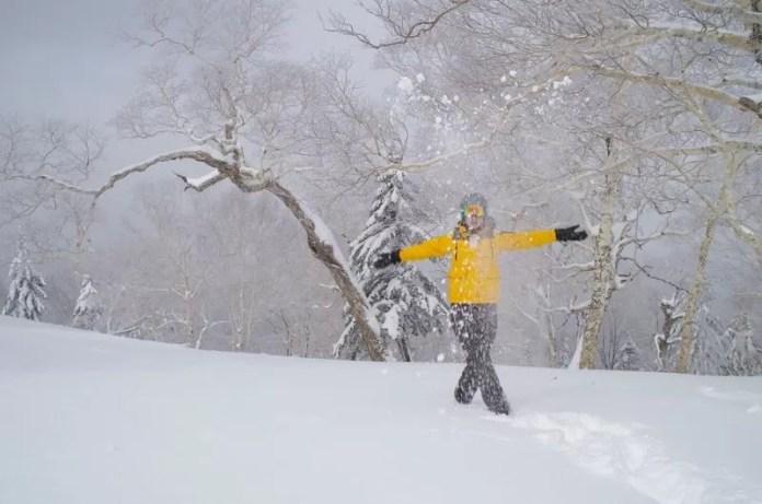 Een overvloed aan sneeuw in Japan