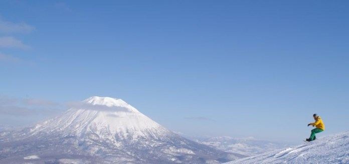 Vulkaan Yotei op een heldere dag in Niseko.