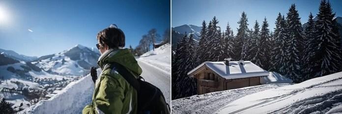 Genieten van uitzichten, dennenbomen vol sneeuw en het zonnetje. Eigen foto: Manja Herrebrugh, Snowrepublic