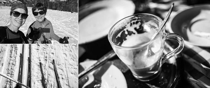 Samen langlaufen op een zonnige dag. Uiteraard mét koffie. Eigen foto: Manja Herrebrugh, Snowrepublic