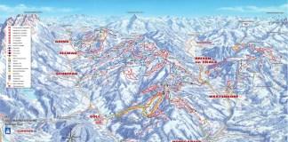 Skiwelt pistekaart