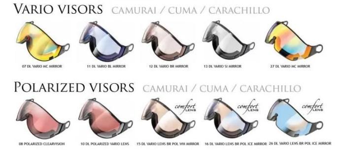 Meekleurende skibrillen