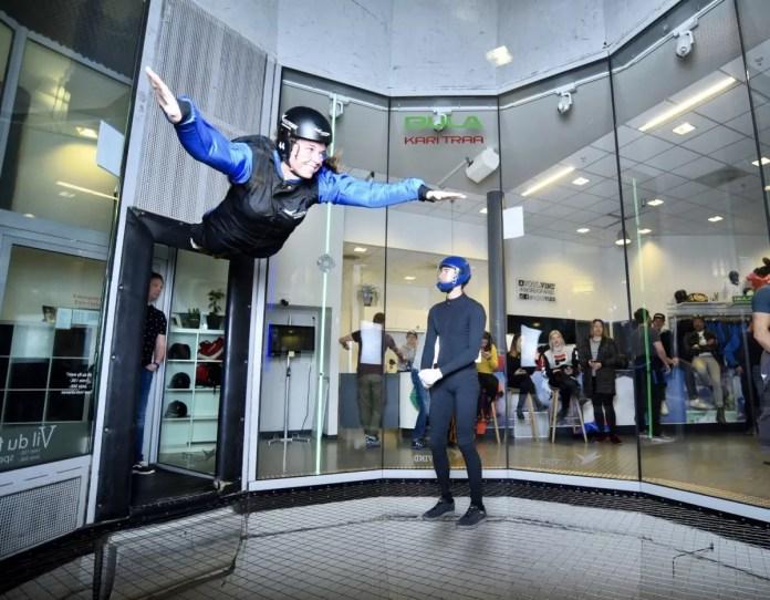 Zie je jezelf ook al vliegen tijdens het indoor skydiven?