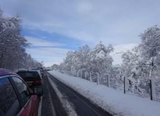Verkeer naar de Alpen