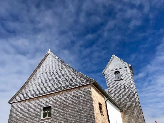 Het kerkje bovenop de Hohe Salve. Ook geschikt voor een schietgebedje voordat je aan de zwarte piste begint...