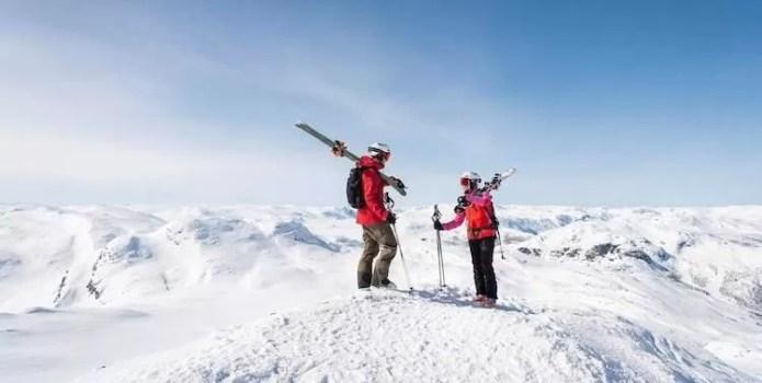 Uitzicht over mooie toppen in Hemsedal
