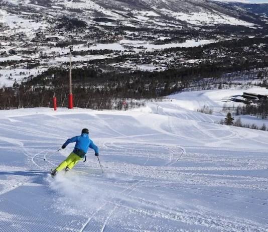 Lege pistes in Geilo, Noorwegen