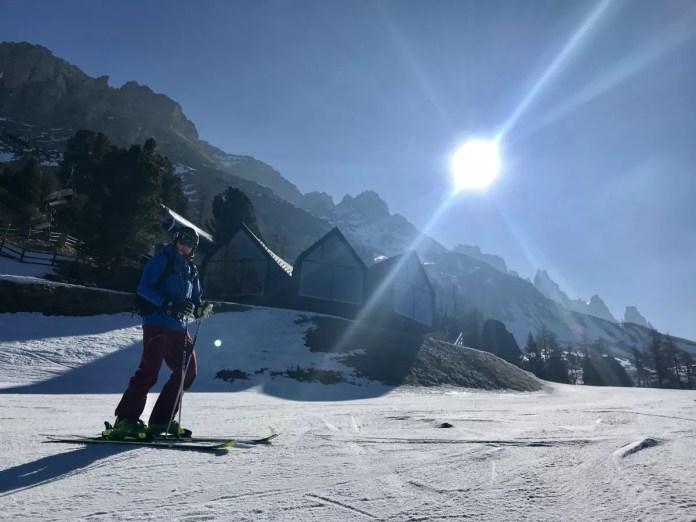 Oberholz in Obereggen. En wat een zon!