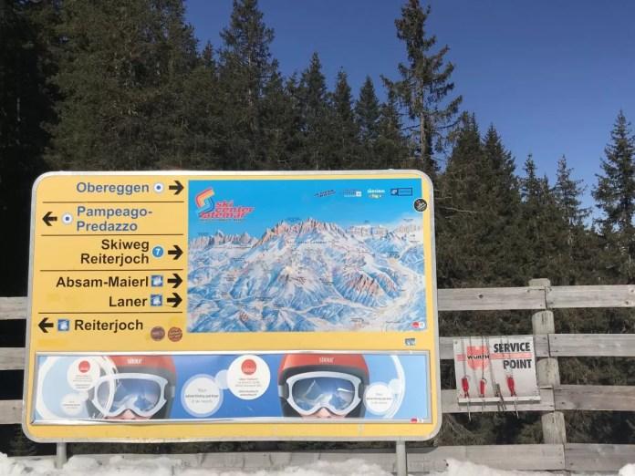 Je kunt een lekkere tocht maken, van Obereggen helemaal naar Predazzo