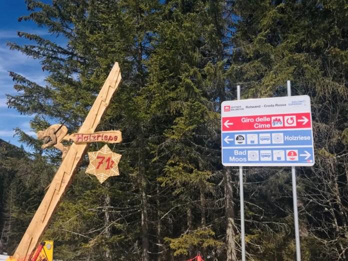 Met 71% is de Holzriese de steilste piste van Drei Zinnen
