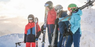 Met het gezin skiën op de Steinplatte-Waidring © Defrancesco