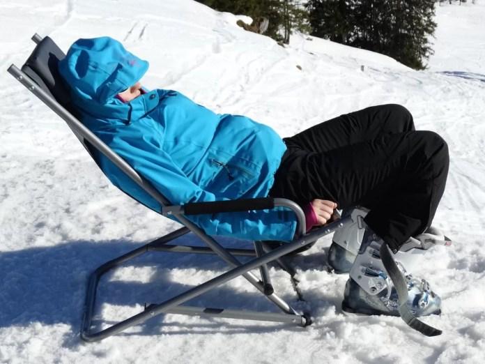 zonnen momenten wintersporters