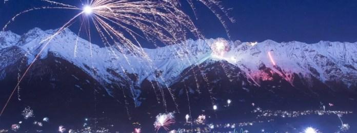 Prachtig vuurwerk bij de Nordkette. Fotocredits: Nordkette.com