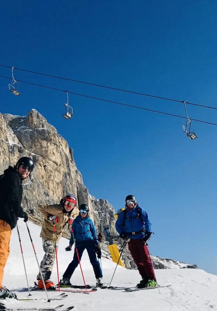 Florian laat ons 'zijn'gebied zien, met prachtige technische sneeuw. Foto: Pauline van der Waal
