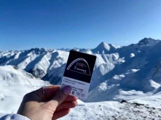 Skiën tussen Oostenrijk en Zwitserland Foto: Maaike de Vries