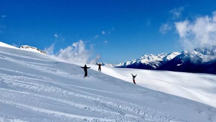Zo blij word je van off-piste skiën! Foto: Pauline van der Waal