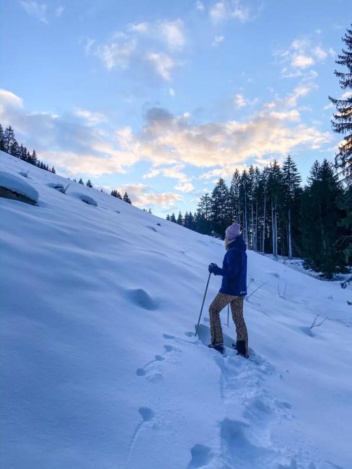 Sneeuwschoenwandelen in Ischgl. Ook dat is een vorm van relaxen. Foto: Maaike de Vries