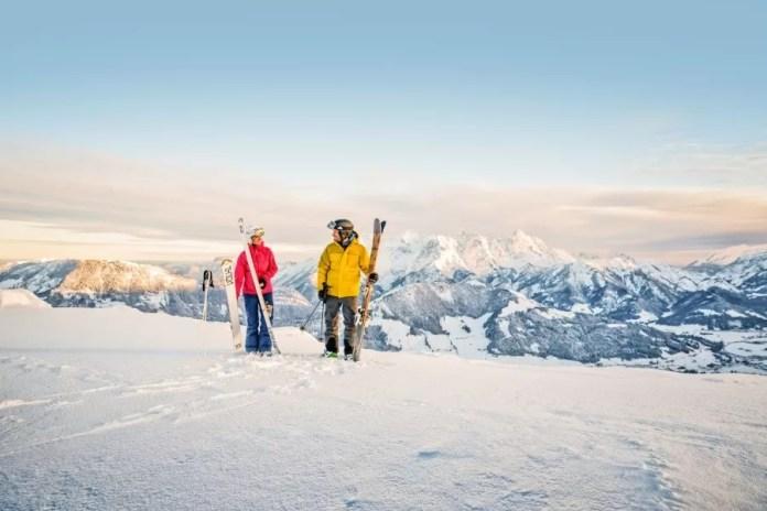 On of off-piste skiën, het kan allemaal in het Skicircus Saalbach Hinterglemm Leogang Fieberbrunn © Mirja Geh / Eye 5