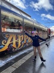Zo'n treinreisje sla ik niet af Foto: Maaike de Vries